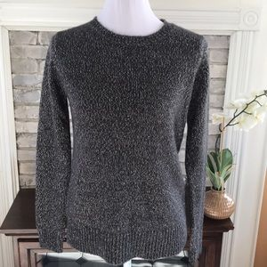 🦋Forever 21 Sweater Gray Metallic Size S